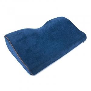 Подушка анатомическая с двумя валиками чехол п/э 50/30 цвет темно-синий