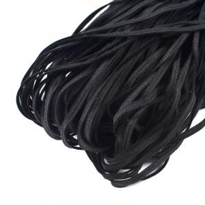 Резинка плоская вязаная 4 мм 50 м черная