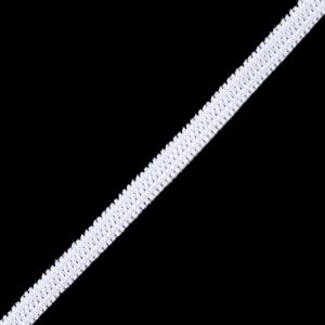 Резинка плоская вязаная 4 мм белая 1 метр
