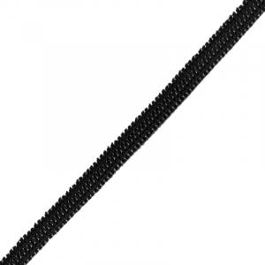 Резинка плоская вязаная 4 мм черная 1 метр