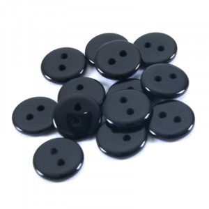 Пуговицы Рубашка 2-х пр 11 мм цвет черный упаковка 24 шт