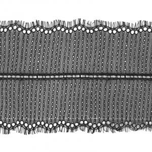 Кружево реснички 20см ХJ026-1 черный упаковка 3 м