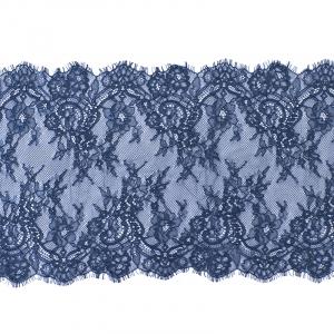 Кружево реснички 22см J062 синий упаковка 3 м
