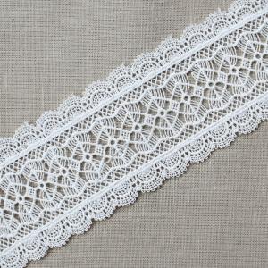Кружево плетеное СЕВЕР белое CF 1471S 5,5 см упаковка 10 м