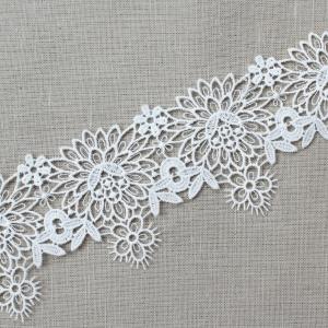 Кружево плетеное СЕВЕР белое CA 0713 5,5см упаковка 10 м