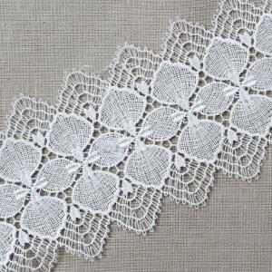 Кружево плетеное СЕВЕР белое CF 0543 8 см упаковка 10 м