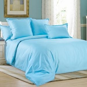 Ткань на отрез сатин гладкокрашеный 220 см WSB-005 цвет голубой