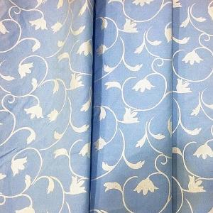 Тик 220 см 145 +/- 5 гр/м2 Вензель цвет голубой