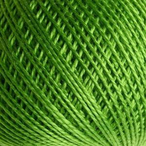 Нитки для вязания Ирис 100% хлопок 25 гр 150 м цвет 3910 зеленый