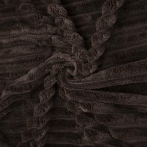 Ткань на отрез велсофт Orrizonte 300 гр/м2 200 см цвет шоколад