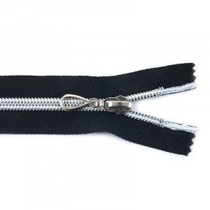 Молния 7 декор. черн/серебро 65 см