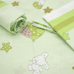 Набор детских пеленок поплин 4 шт 73/120 см 1636 Мой ангелочек цвет салатовый