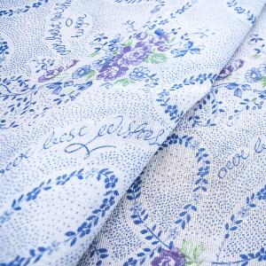 Ткань на отрез ситец 80 см цвет фиолетовый