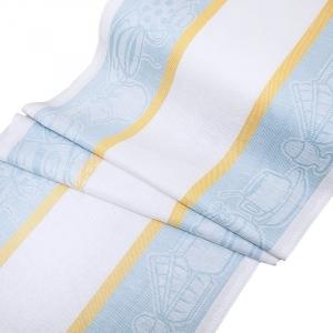 Полулен полотенечный 50 см Жаккард 4216 цвет серо-голубой