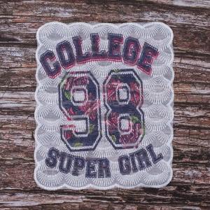 Декоративный  элемент пришивной College 98 super girl 20,5*24,5 см