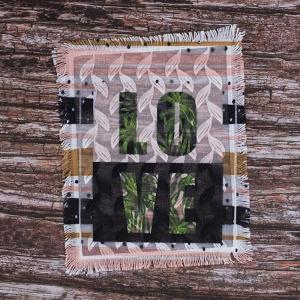 Декоративный  элемент пришивной Love 19*23,5 см