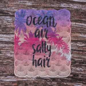 Декоративный  элемент пришивной Ocean, air, salty, hair 20,5*25,5 см