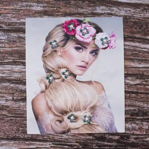 Декоративный  элемент пришивной Блондинка с венком 19*23,5 см