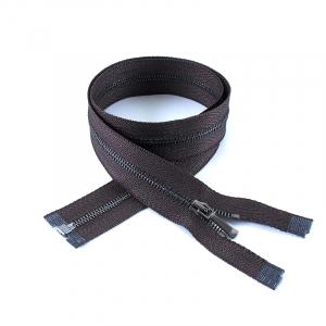 Молния металл №1 черный никель разъем 160см D088 коричневый