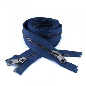Молния металл №10 RR черный никель два замка 100см D919 морской синий