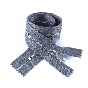 Молния металл №2 никель н/р 35см D275 серый