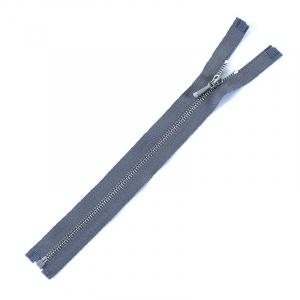 Молния металл №2 никель разъем 20см D275 серый