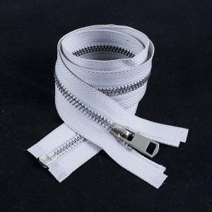 Молния металл №5ТТ никель разьем 65см D165 светло серый