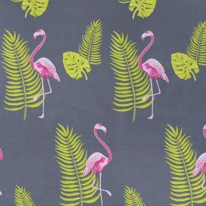 Ткань на отрез поплин 220 см 115 г/м2 28283/1 Розовый фламинго