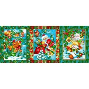 Ткань на отрез вафельное полотно набивное 150 см 597/1п цвет зеленый
