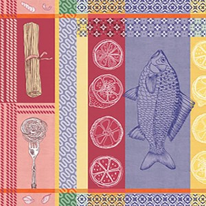 Рогожка 150 см набивная арт 904 Тейково рис 35009 вид 1 Фестиваль вкусов