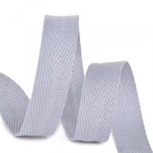 Лента киперная 15 мм хлопок 2.5 гр/см цвет S361 серый