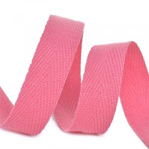 Лента киперная 10 мм хлопок 2.5 гр/см цвет F137 розовый