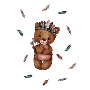 Ткань на отрез перкаль детский 112/150 см 07 Мишка-охотник