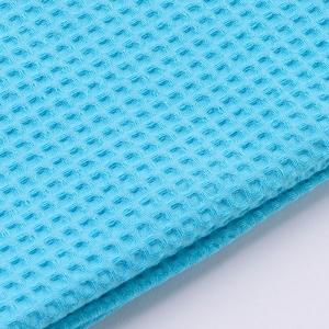 Вафельное полотно гладкокрашенное 150 см 240 гр/м2 7х7 мм премиум цвет 412 светло-голубой