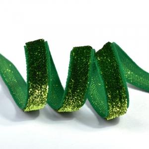 Лента Бархотка с3722 рис.9252 шир. 10мм цв.21 салатовый/зеленый уп.10 м
