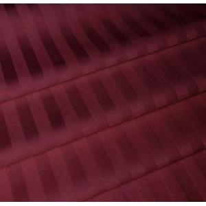 Ткань на отрез страйп сатин полоса 1х1 см 220 см 120 гр/м2 цвет 084/2 бордовый