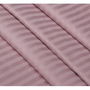 Ткань на отрез страйп сатин полоса 1х1 см 220 см 120 гр/м2 цвет 730/2 роза