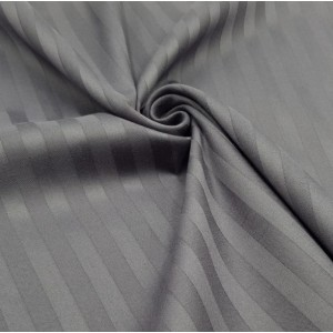 Ткань на отрез страйп сатин полоса 1х1 см 220 см 120 гр/м2 цвет 960/2 серый