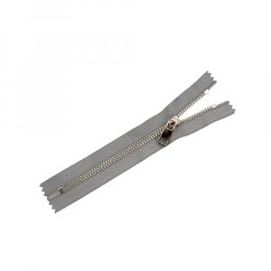Молния металл №5ТТ никель н/р 18см D323 темно серый