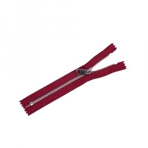 Молния металл №5ТТ никель н/р 18см D520 красный чили