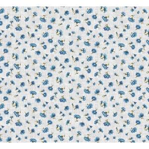 Ткань на отрез ситец 95 см 21258/1 Василек