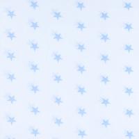 Ткань на отрез бязь плательная 150 см 1700А/3 цвет голубой