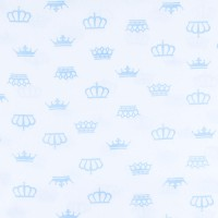 Ткань на отрез бязь плательная б/з 150 см 369/3 цвет голубой