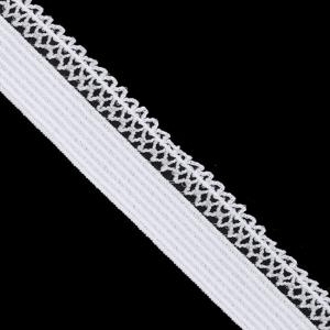 Резинка TBY бельевая ультрамягкая 12 мм RB06134 цвет F101 белый уп 100 м