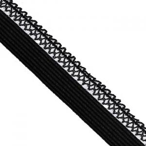 Резинка TBY бельевая ультрамягкая 12 мм RB06 цвет F322 черный уп 100 м