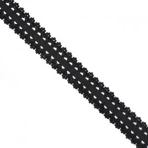 Резинка TBY бельевая 20 мм RB04322 цвет F322 черный 100 м