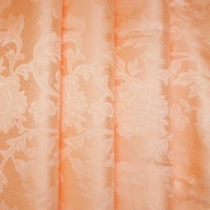 Портьерная ткань 150 см 29 цвет персик ветка-лист
