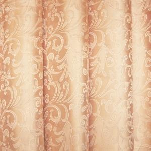 Портьерная ткань 150 см 32 цвет кремовый вензель