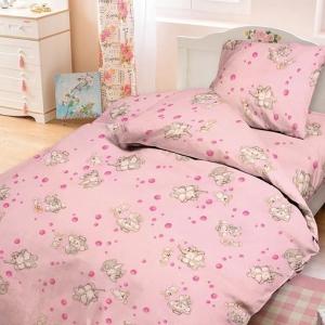 Бязь 120 гр/м2  детская 150 см 1285/2 Мамонтенок розовый