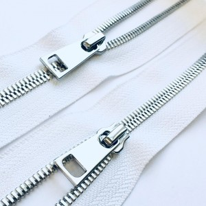 Молния металл №5СТ никель два замка 95см D501 белый